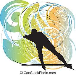 Skater silhouette vector illustration