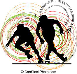 Skater silhouette vector illustration