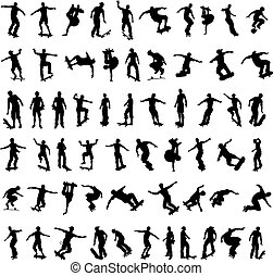 Skater Silhouettes - A big set of high quality silhouettes...