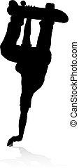 Skater Skateboarder Silhouette - Very high quality and...