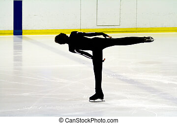 skater standing on the ice