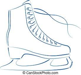 skates., eis, sketched