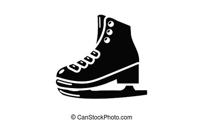Skates icon animation simple best object on white