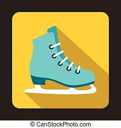 Skates icon in flat style