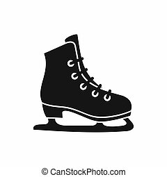 Skates icon, simple style