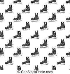 Skates seamless pattern
