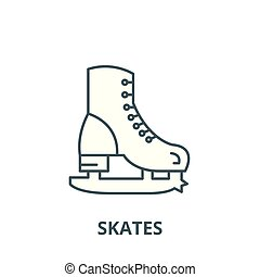 Skates vector line icon, linear concept, outline sign, symbol