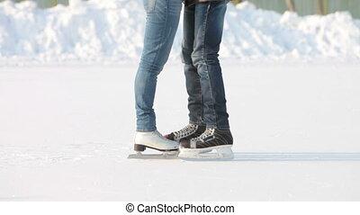 Skating and kissing
