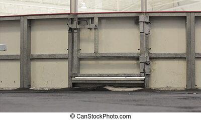 skating, door., rink, opening