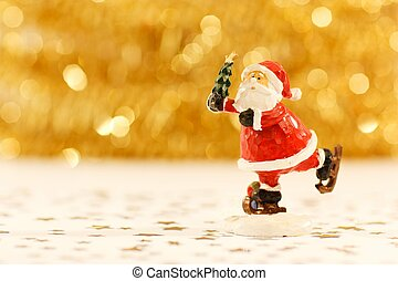 Skating Santa Figure
