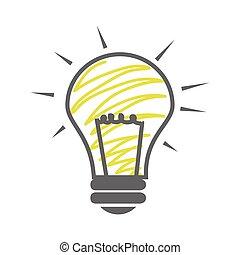 skecth of light bulb icon