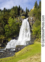 Skeie Waterfall  - Skeie Waterfall, Norway