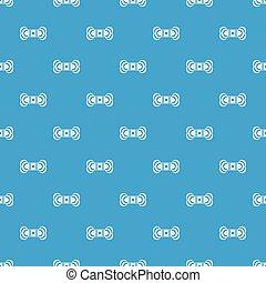 Skein of yarn pattern seamless blue