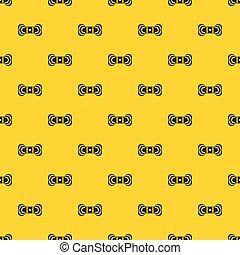 Skein of yarn pattern vector