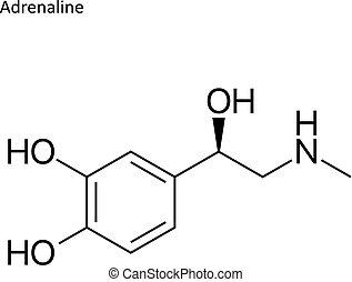 Skeletal formula of Adrenaline