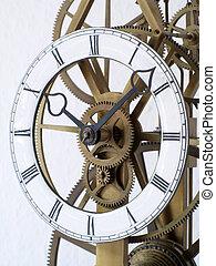 skeleton clock dial - Dial of an original old skeleton...