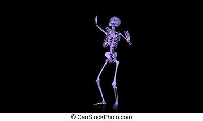 Skeleton Disco Dance. CG. hd - Skeleton disco dancing...