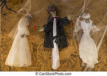 skeleton dressed death - Skeleton wearing the day of death...