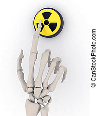 skeleton hand and nuclear button alert - skeleton hand to...