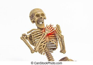 skeleton heart pain add clipping path