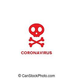 skeleton icon. coronavirus stop. vector symbol on white background