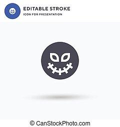 Skeleton icon vector, filled flat sign, solid pictogram isolated on white, logo illustration. Skeleton icon for presentation.