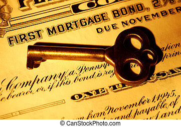 Mortgage Bond - Skeleton key and a Mortgage Bond Certificate