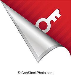 Skeleton key corner tab - Skeleton key, password, or login ...