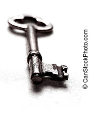 Skeleton Key - Close-up of antique skeleton key