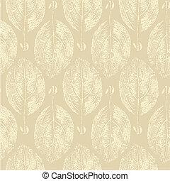 Skeleton leaves pattern