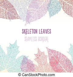 Skeleton leaves seamless