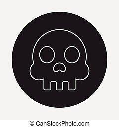 Skeleton line icon