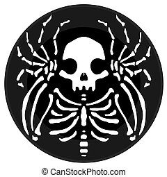 Skeleton Round Icon