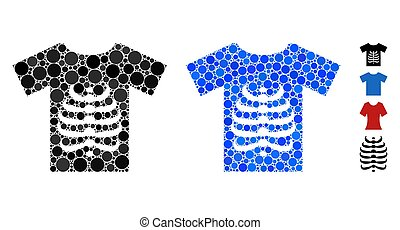 Skeleton T-Shirt Mosaic Icon of Round Dots