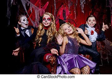 skeleton witch vampire