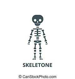 Skeletone vector line icon, linear concept, outline sign, symbol