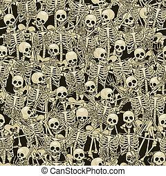 Skeletons seamless background
