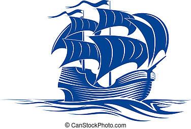 skepp, segel