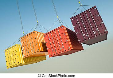skeppning, behållare