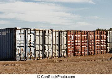skeppning, exportera, gods, behållare