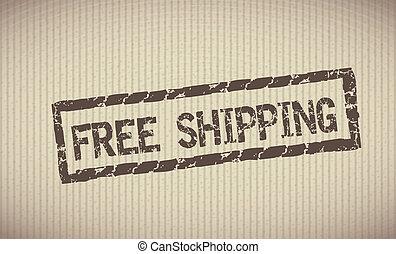 skeppning, gratis, etikett