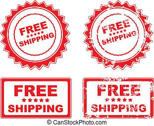 skeppning, gummi stämpla, gratis