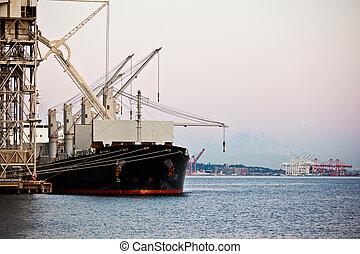 skeppning, hamn