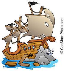 skeppsbrott, rockar