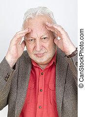 Skeptical senior male