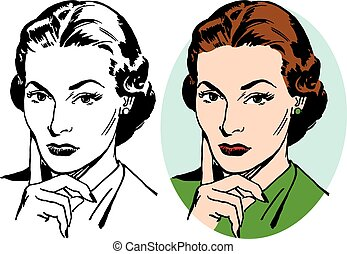 Skeptical Woman - A woman making a skeptical facial...
