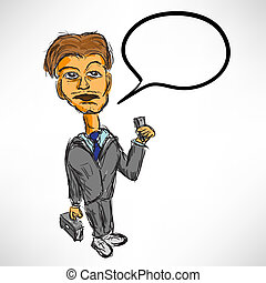Sketch a businessman