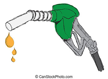 sketch a dripping gas pump nozzle - sketch a dripping gas...