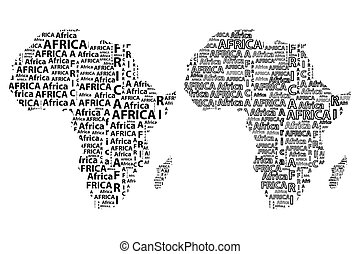 Map of continent Africa - vector illustration
