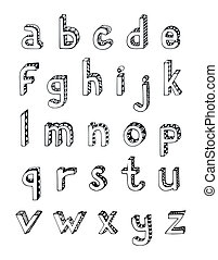Sketch alphabet small letters